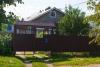Отличный бревенчатый тёплый жилой дом (снаружи отделка рубероидом), большой совмещённый санузел с ванной, отопление газовым котлом, газовая колонка, с