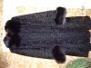 Шуба натуральная черная мелкий каракуль, воротник и манжеты песец. Новая цена 50000 рублей