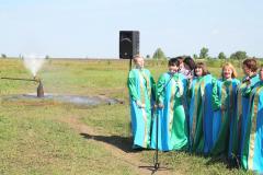 Открытие скважины в с. Шило-Голицыно Ртищевского района, июнь 2013 г.