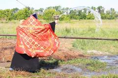 Открытие скважины в с. Ш.-Голицыно Ртищевского района, июнь 2013 г.
